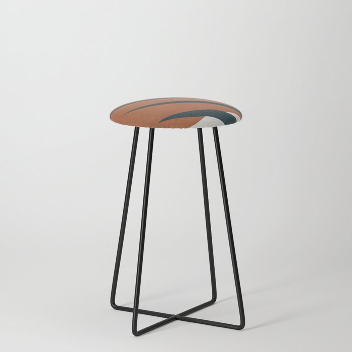 Abstract Art 35 Counter Stool