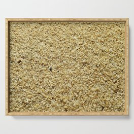 Coarse Grains of Sand Serving Tray
