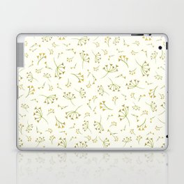 Yellow Branches – Floral Heart Collection Laptop & iPad Skin