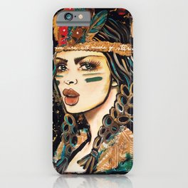 WEA RE ALL MADE OF STARS BOHEMIAN GIRL iPhone Case
