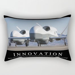 Innovation: Inspirational Quote and Motivational Poster Rectangular Pillow