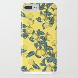 Lemon and Leaf Pattern III iPhone Case