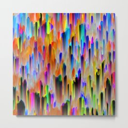 Colorful digital art splashing G393 Metal Print