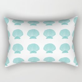Aqua Seashell Rectangular Pillow