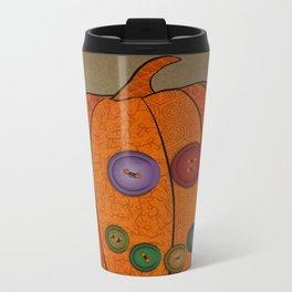 Patterned pumpkin  Metal Travel Mug