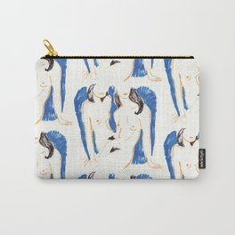 Nudes in Gold and Blue Carry-All Pouch