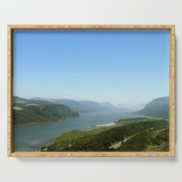 Columbia River Gorge Landscape Photography Serving Tray
