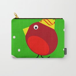 Merry Christmas Robin Carry-All Pouch