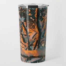 Snow Branches Travel Mug