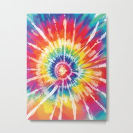 Tie Dye Metal Print