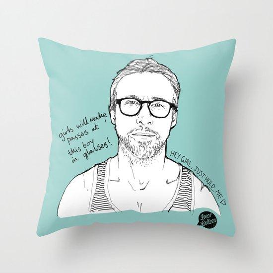 Hey Girl, The Gosling Throw Pillow