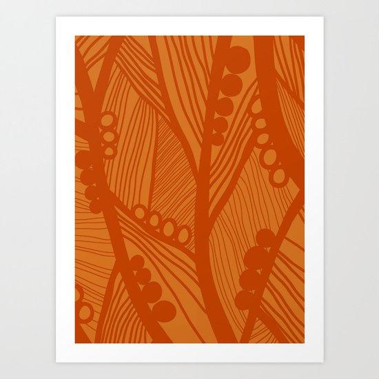raindrops in stillness Art Print