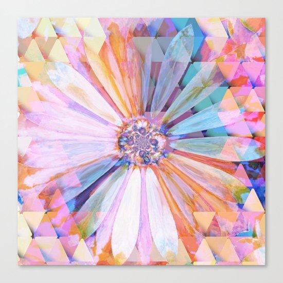 Daisy on Triangles Canvas Print