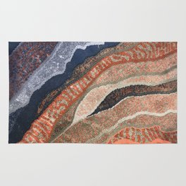 Abstract Waves of Color Rug