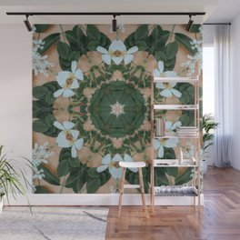 forest fairy white flower crown Wall Mural