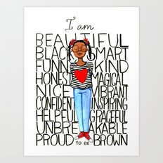 Proud to be brown Art Print