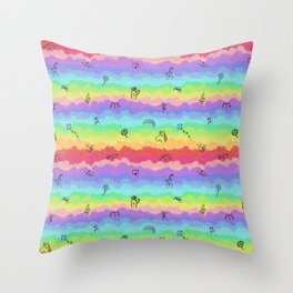 Emoji cloudy day Throw Pillow