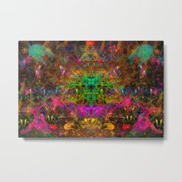 Spark Dance (psychedelic, abstract, visionary) Metal Print