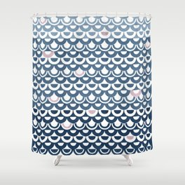 Ebb and flow pattern Shower Curtain