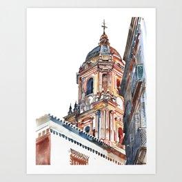 Málaga Cathedral Art Print