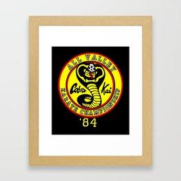 cobra kai karate clan Framed Art Print