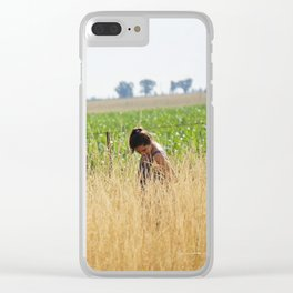 Anabella in the field Clear iPhone Case