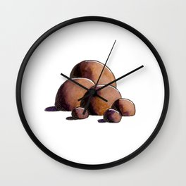 Brown Stones Wall Clock