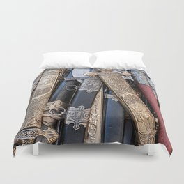 Cold steel arms Duvet Cover