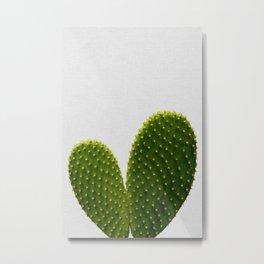 Heart Cactus Metal Print