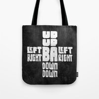 code Tote Bags featuring Gamer's Code by Jango Snow