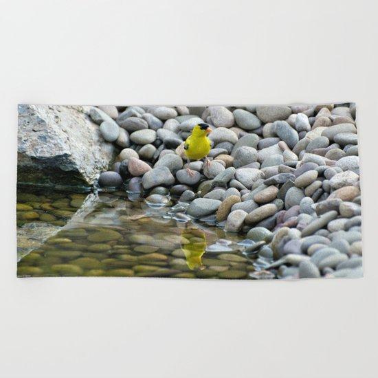 Golden Reflections Beach Towel