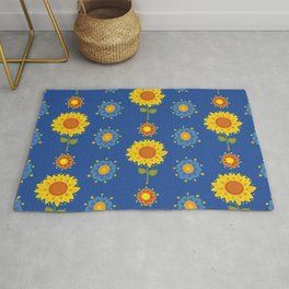 Sunflowers of Ukraine Rug