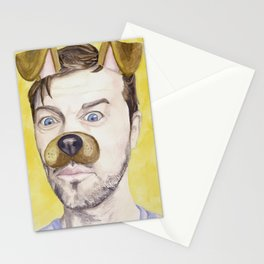 Misha Collins, watercolor painting Stationery Cards