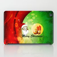 merry christmas iPad Cases featuring Merry christmas by nicky2342