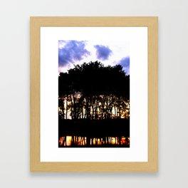 Prairie trees at Sunset Framed Art Print