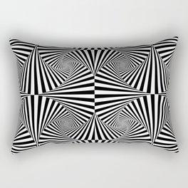 Black And White Retro Optical Illusion Rectangular Pillow