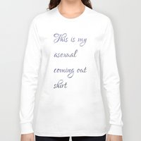 asexual Long Sleeve T-shirts featuring This is my asexual coming out shirt by Adam M. Snowflake