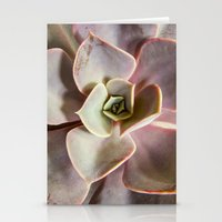 succulent Stationery Cards featuring succulent by Bonnie Jakobsen-Martin