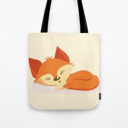 A cute fox sleeping Tote Bag