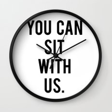 you can sit with us Wall Clock