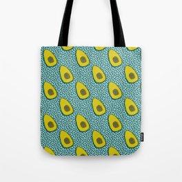 Fer Shure - memphis retro throwback avocado love fruit vegetable vegan vegetarian raw food art Tote Bag