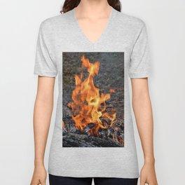 frozen fire Unisex V-Neck