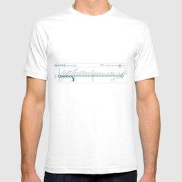 Twin Cities METRO Green Line Map T-shirt