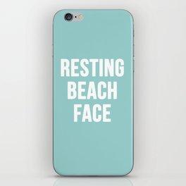 Resting Beach Face iPhone Skin