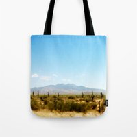 southwest Tote Bags featuring Painterly Southwest by Mister Groom