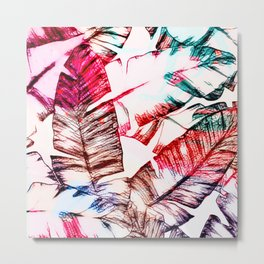 Tropical Banana Leaves Design Metal Print