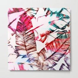 Tropical Banana Leaves Design Metal Print