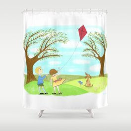 Kites Are Fun Shower Curtain