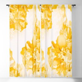 Beautiful Peony Flowers White Background #decor #society6 #buyart Blackout Curtain