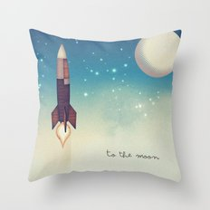 To the Moon 2 Throw Pillow